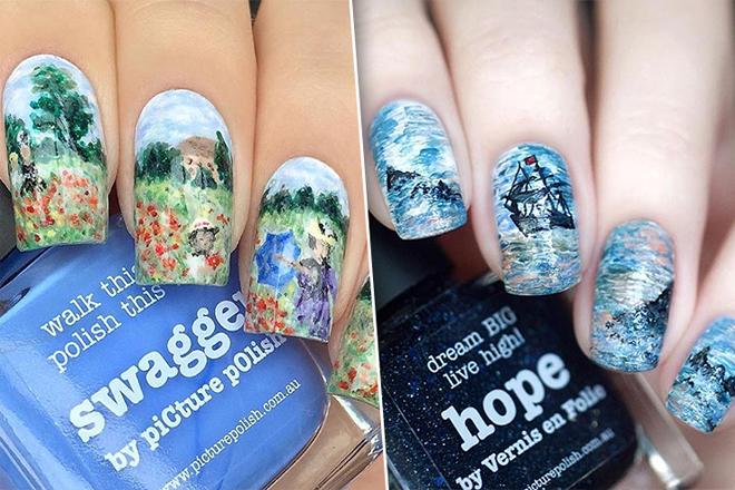 Новий тренд в нейл-арті: живопис на нігтях
