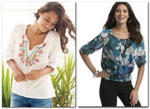 Тренд августа - блуза в стиле фолк