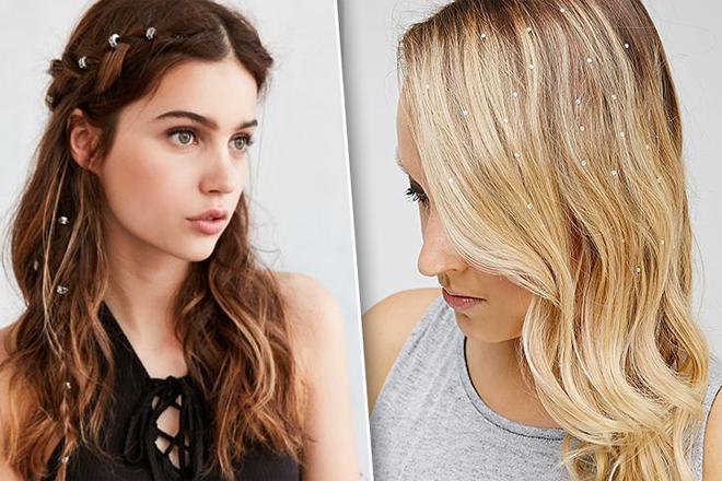 Новий тренд: блискітки у волоссі