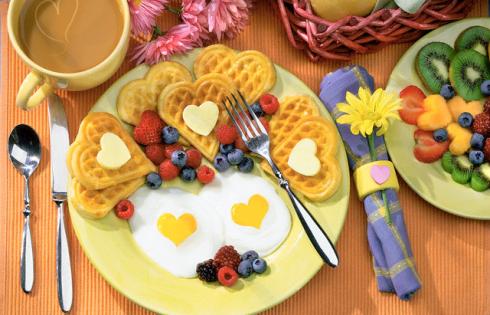 Ідеальний сніданок чоловіка та жінки