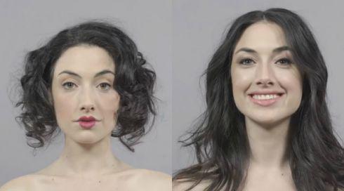 Як змінювалась мода макіяжу за 100 років? [ВІДЕО]