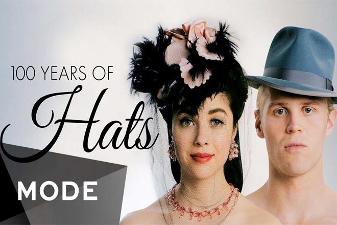 Як змінювалась мода на головні убори за 100 років? [ВІДЕО]