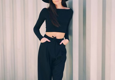 Як носити: об'ємні штани