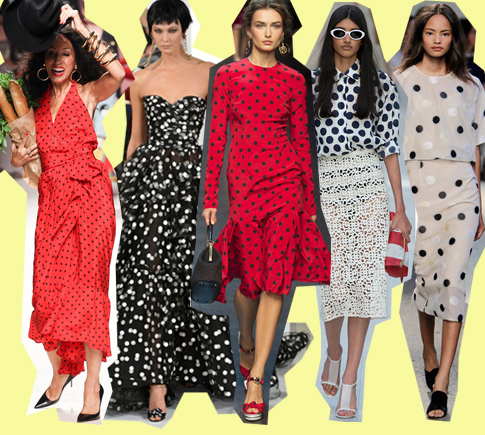 Мода на платья в горошек 2014