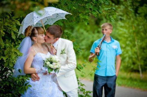 Найбезглуздіші весільні фото