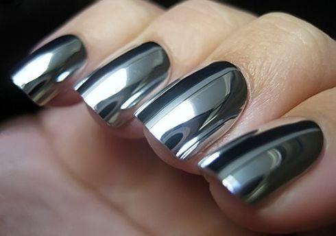 Делаем металлические ногти