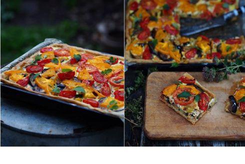 Найпростіший рецепт пирога з баклажанами та томатами