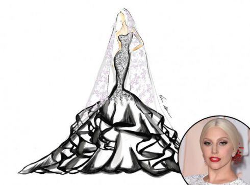 У Мережу потрапили ескізи весільних суконь для Вергари, Терон і Lady Gaga [ФОТО]