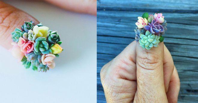 Дизайнери виростили на нігтях справжні квіти (ФОТО)