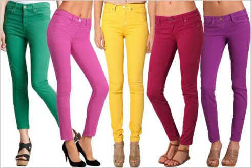 Вдягаємося стильно: кольорові джинси
