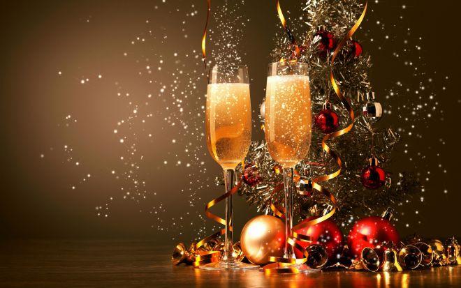 Новогодние бокалы. Украшаем со вкусом и вкусно