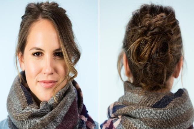 Модна зачіска: подвійний вузол [ВІДЕО]
