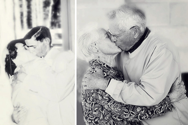 Вічне кохання: пари відтворюють свої весільні фото крізь роки
