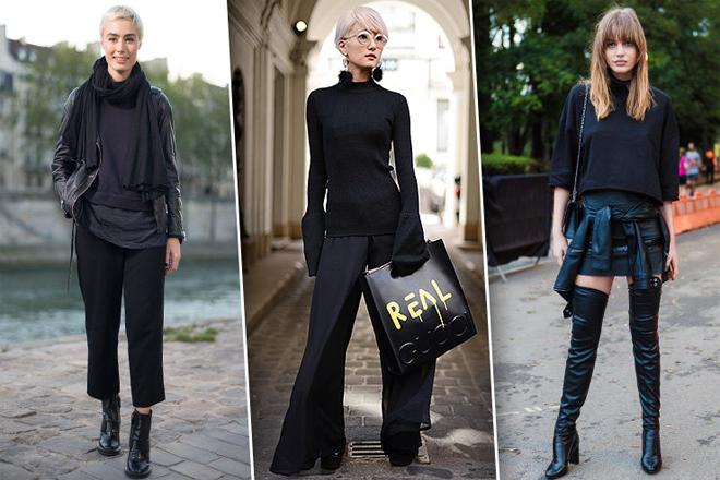 Модні тенденції: кілька цікавих ідей total black