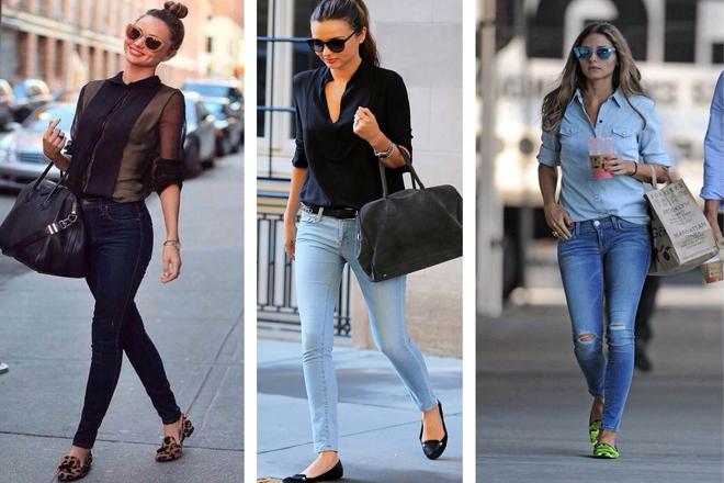Як і з чим носити джинси скінні   bd606667955a6