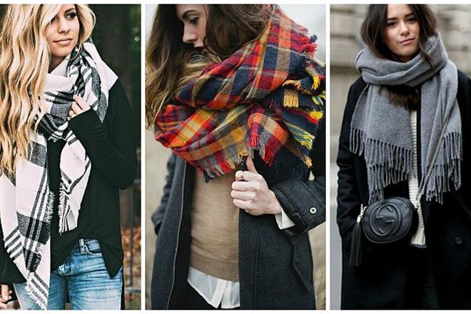 Шарф-плед: модні варіанти для твоєї осені
