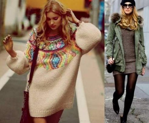 Модна зима: сукня-светр