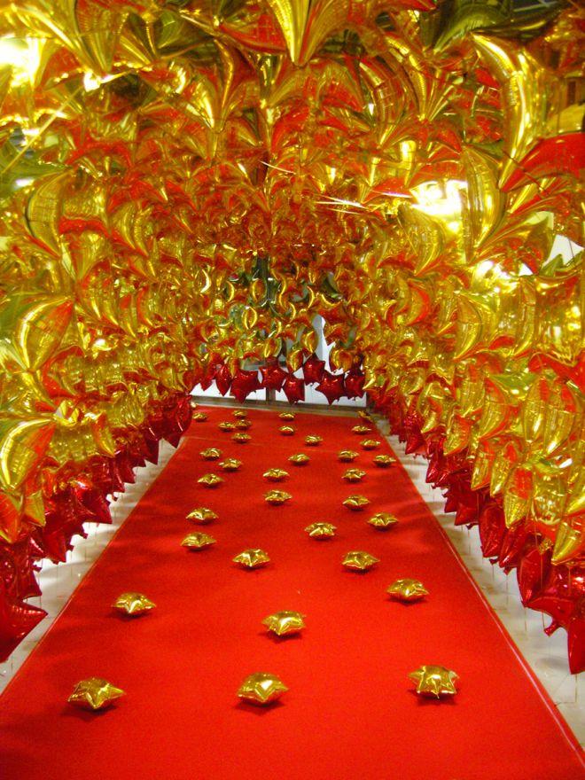 Оформление зала для юбилея: выбираем воздушные шары