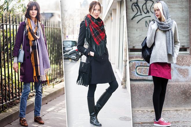 Об'ємний шарф: як його стильно носити?