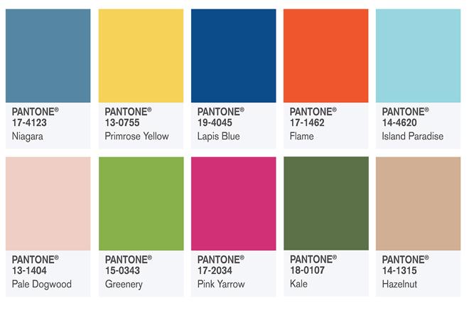 Наймодніші кольори: Топ-10 відтінків від інститут кольору Pantone