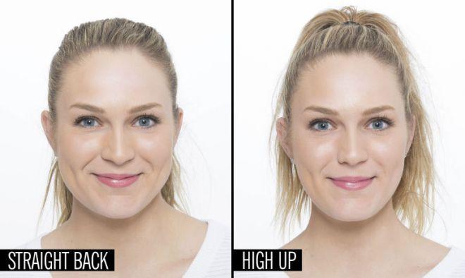 Как уменьшить лицо с помощью прически фото