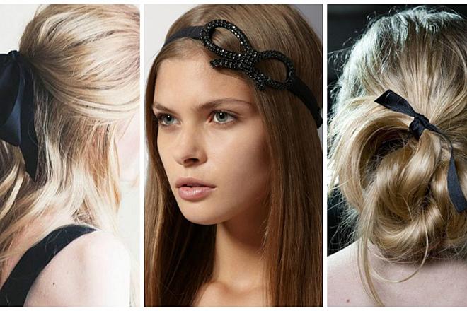 Модні зачіски осені: чорні стрічки та недбалість [ФОТО]