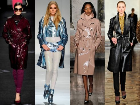 Зимовий тренд модні шкіряні пальта 2015