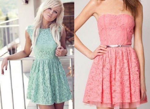 Весняна мода: мереживні сукні
