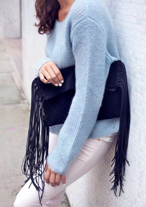 Як швидко і просто зробити модну сумку з бахромою?