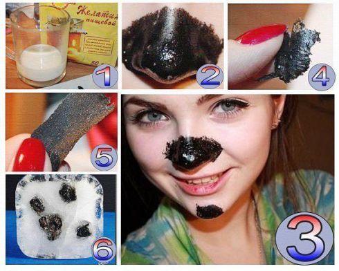 маски от черных точек из активированного угля и желатина рецепт с фото