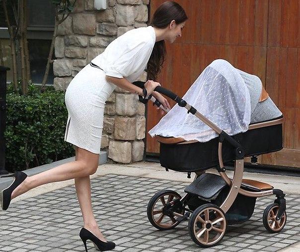 Современная коляска – стильная и надёжная