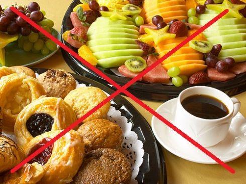 Які продукти не можна їсти натщесерце